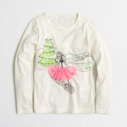 Girls' long-sleeve snowboard keepsake T-shirt