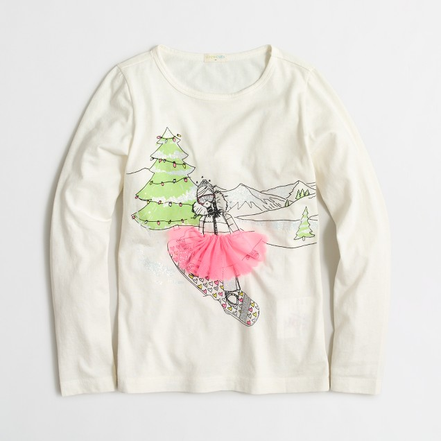Girls' long-sleeve snowboard keepsake T-shirt