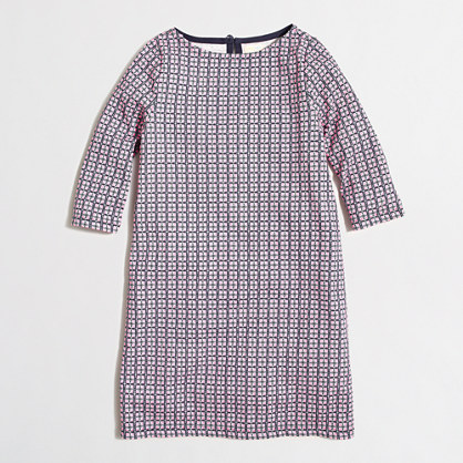 Girls' printed boatneck dress