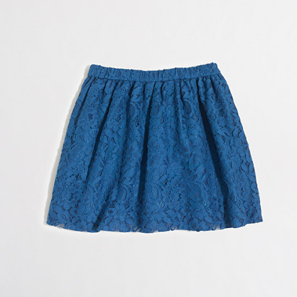Girls' lace pull-on skirt