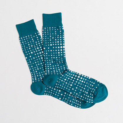Dot grid socks