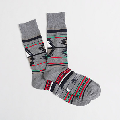 Geometric shapes socks