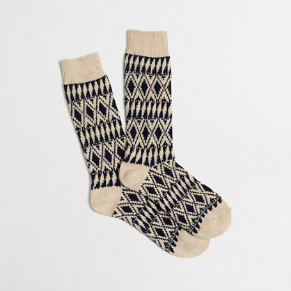 Geo-striped socks