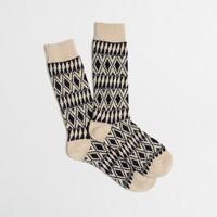 Geo-striped socks