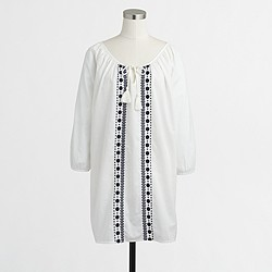 Factory embroidered tassel tunic
