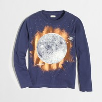 Boys' long-sleeve glow-in-the-dark total eclipse storybook T-shirt