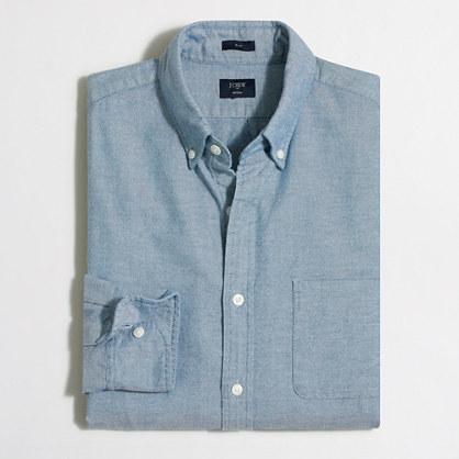 Slim broken-in oxford shirt