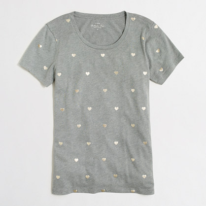 Hearts collector T-shirt in airy cotton