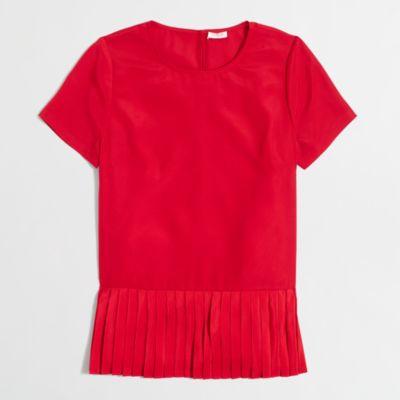 Pleated-hem T-shirt   search