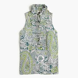 Factory printed ruffle-collar cami