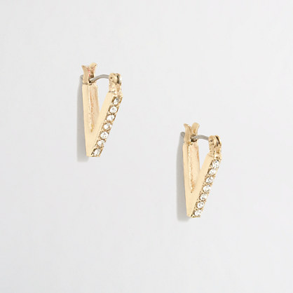 Drop point earrings