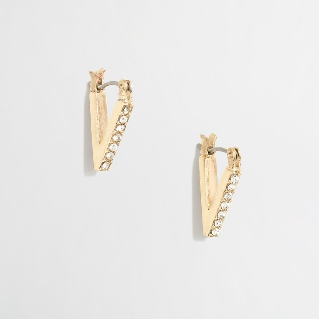 Drop point earrings