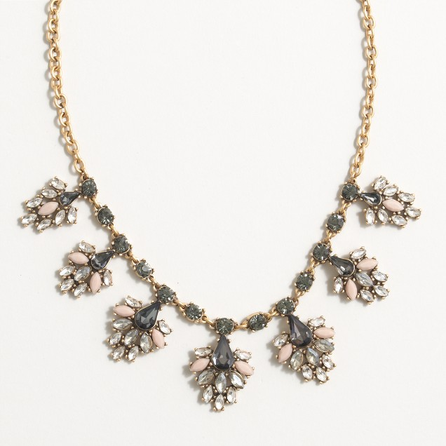 Drop-clusters necklace