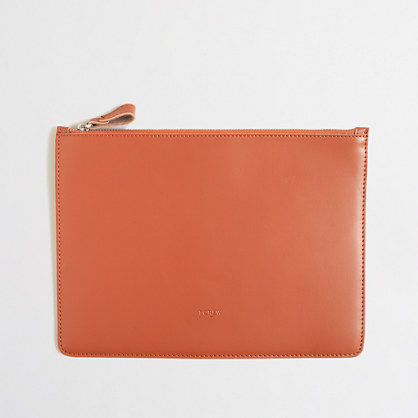 Leather iPad case with zipper