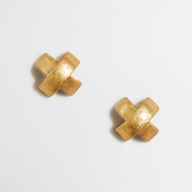 Curved intersect earrings