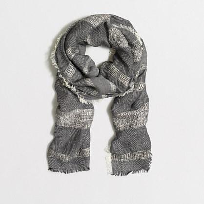 Mixed-stitch zigzag scarf
