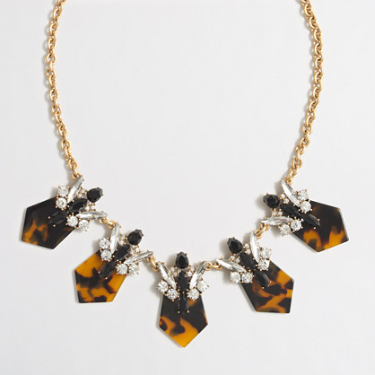 Tortoise-backed crystals necklace