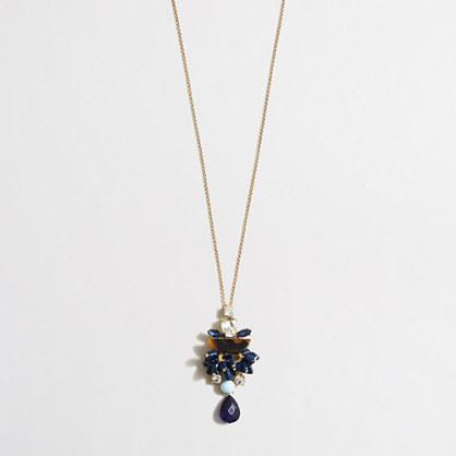 Iridescent accents pendant necklace