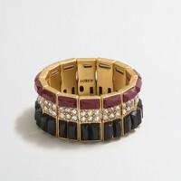 Stone-striped bracelet