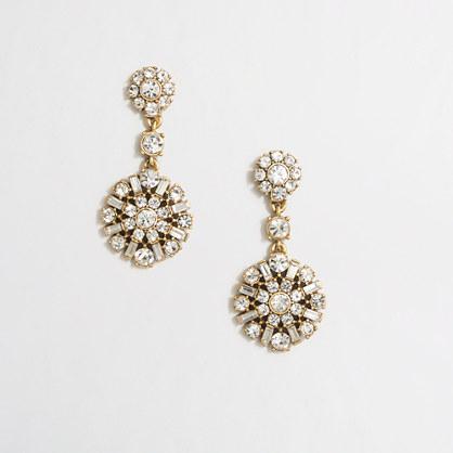 Crystal medallion earrings