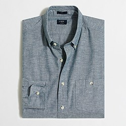 Factory slim chambray shirt