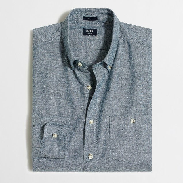Tall slim chambray shirt