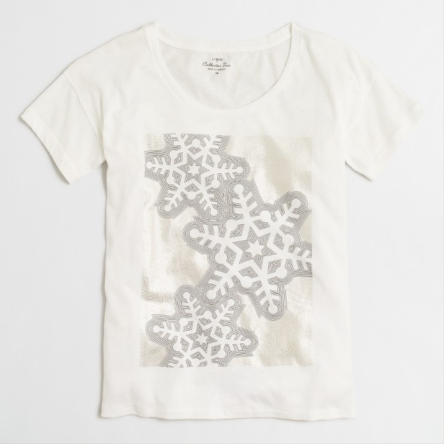 Snowflakes collector T-shirt in airy cotton