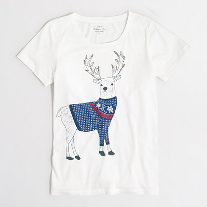 Reindeer collector T-shirt in airy cotton