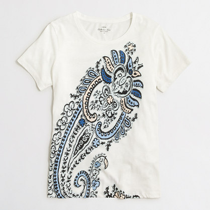 Paisley collector T-shirt in airy cotton