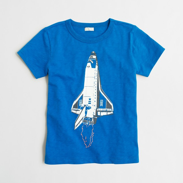 Boys' glow-in-the-dark rocket ship storybook T-shirt