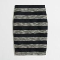 Striped jacquard pencil skirt
