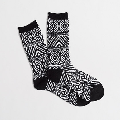 Geometric-striped trouser socks