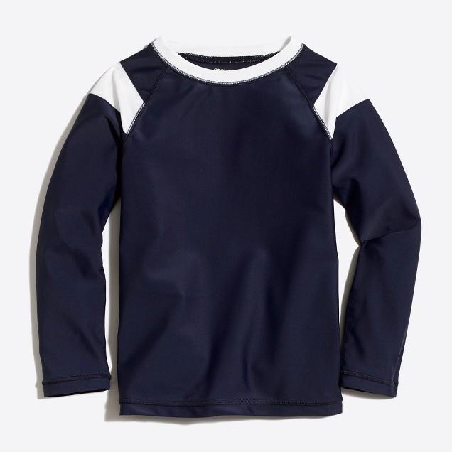 Boys' long-sleeve jersey rash guard