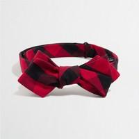 Buffalo check oxford bow tie
