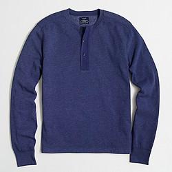 Factory fleece henley sweatshirt