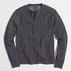 Fleece henley sweatshirt