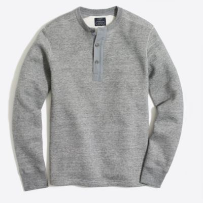 Fleece henley sweatshirt