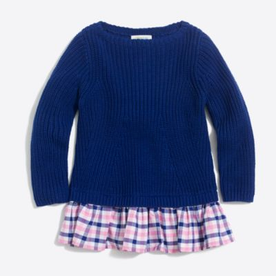Girls' ruffle-hem popover sweater factorygirls new arrivals c