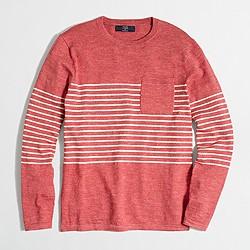 Factory striped crewneck sweater
