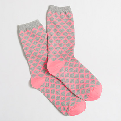 Abstract diamond trouser socks