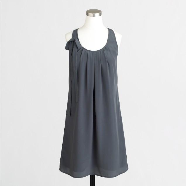 Drapey tank dress with bow