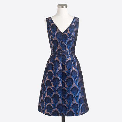 Peacock jacquard dress
