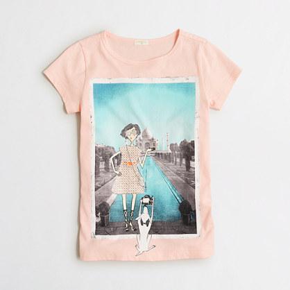 Girls'  Taj Mahal keepsake T-shirt