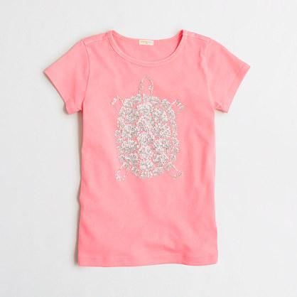Girls' sequin turtle keepsake T-shirt