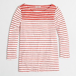Factory mixed-stripe T-shirt