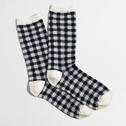 Plaid trouser socks