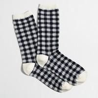 Plaid trouser socks
