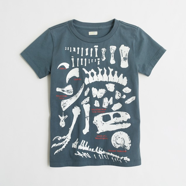 Boys' glow-in-the-dark paleontologist storybook T-shirt
