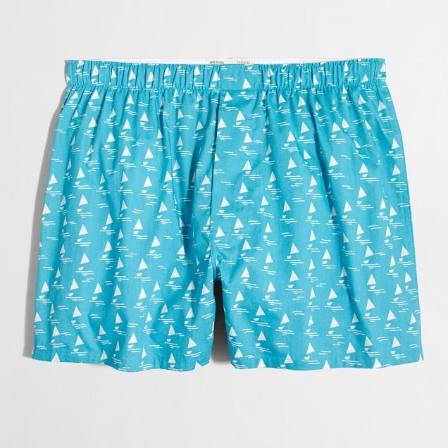 Abstract sailboat boxers