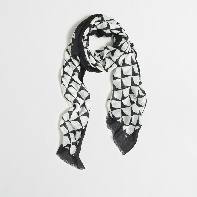 Abstract diamond scarf